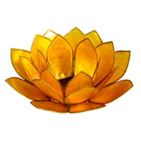 Yellow Pearl Lotus Tealight Holder