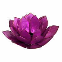Violet Pearl Lotus Tealight Holder