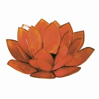Orange Pearl Lotus Tealight Holder