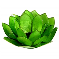 Green Pearl Lotus Tealight Holder