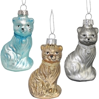 Cat Glass Ornament