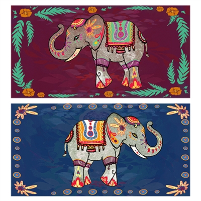 Festival Elephants Matchbox