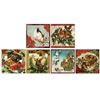 Holiday Friends Square Mini Matchboxes