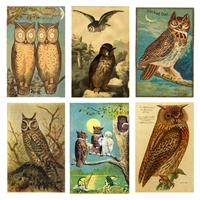 Vintage Owls Mini Matchbox