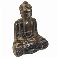 Hand Carved Meditating Buddha Statue