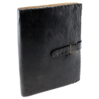 Smooth Stitched Leather Journal with Strap Closure