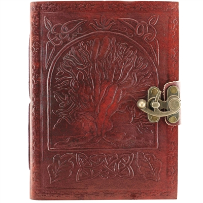 Embossed Tree of Life Leather Journal