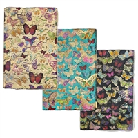 Butterfly Gold Embossed Journal Deckle Paper