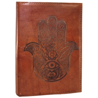 Embossed Hamsa Leather Journal