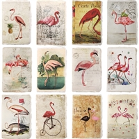 Vintage Flamingo Mini Journal Asst 1Dz
