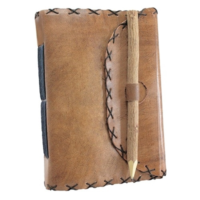 Cross-stitched Leather Journal
