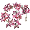 Wonderland Butterfly Stem Garland Pink & Black