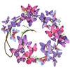 Wonderland Butterfly Stem Garland Purple & Pink