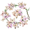 Wonderland Butterfly Stem Garland Pale Peach & Pink