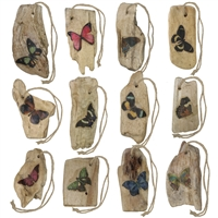 Assorted Wood Butterfly Ornaments