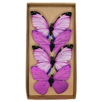 Lavender Fields Paper Butterfly Clips