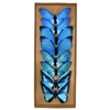 Mystic Blue Paper Butterfly Clips