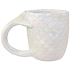 Mia Mermaid Tail Mug White Iridescent