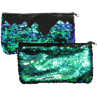 Mermaid Magic Sequin Handbags Green & Black