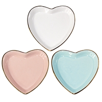 Pastel Hearts Ceramic Trays