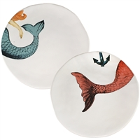 Round Mermaid and Merman Tail Plates