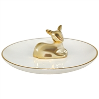 Golden Deer Ring Tray