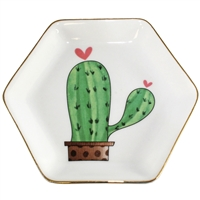 Potted Cactus Heart Tray