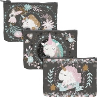 Unicorns Zippered Coin Pouch