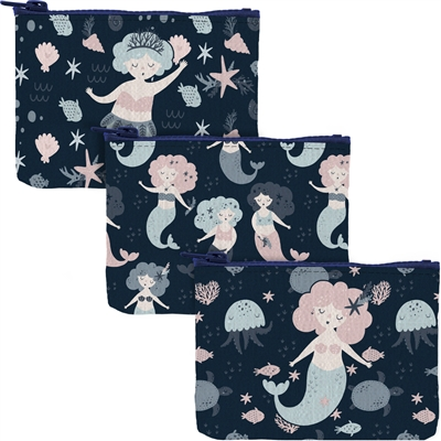 Little Mermaids Zippered Coin Pouch