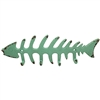 Fish Skeleton Wall Hook Green TRQ