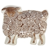 Brown Wooly Lamb Ceramic Tray