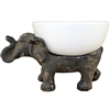 Elephant with Ceramic Bowl