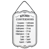 Kitchen Conversions Metal Sign