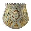 Savann Sage & Gold Metal Candle Holder Lrg