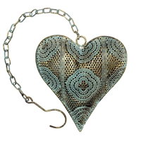 Ashia Metal Heart Decor Gold on Sage