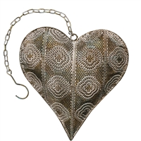 Ashia Metal Heart Decor Gold, Sage & White