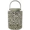 Jayde Lantern Black and Sage Metal