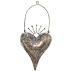 Zara Hanging Metal Heart Antq Bronze