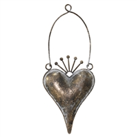 Zara Hanging Heart Metal Antq Bronze