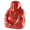 Crackle Red Buddha