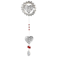 Two Hearts Chrystal Spinner