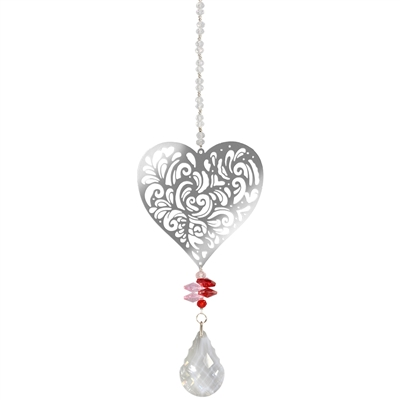 Single Heart Chrystal Sun Catcher