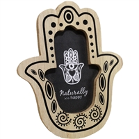 Hamsa Standing Photo Frame Wood