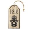 Hamsa Dreams Wood Ornament