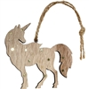 Unicorn Ornament Standing Wood