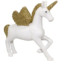 Standing Unicorn Ornament Glitter