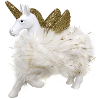 Winged Unicorn Fur & Glitter