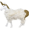 Standing Unicorn Ornament Fur & Glitter