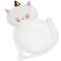 Uni-Cat Tray White & Gold