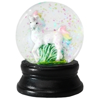 Rainbow Unicorn Snow Globe